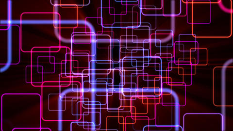 Colorful Neon Rounded Squares Motion Background Animation