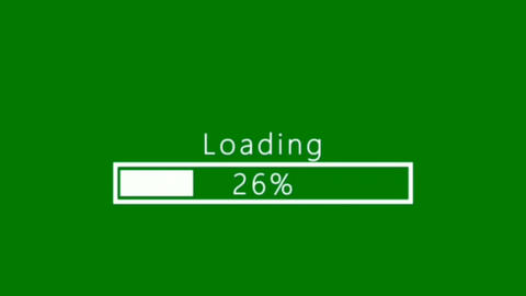 Loading process motion graphics with green screen background Animation