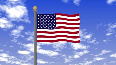 Flag of the United States Animation