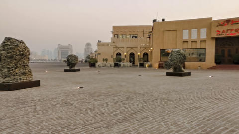 A hype lapse of Katara cultural village in Doha Qatar at sunset Live Action