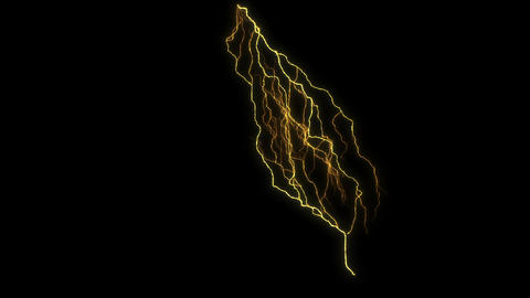 Digital Render Lighting Strike Electric Charge Animation