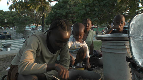 Refugees on the streets following the Haiti earthq Stock Video Footage