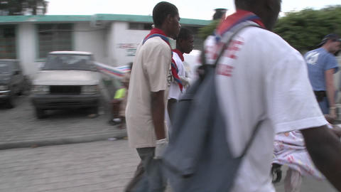 A body is transported on the street with a stretch Footage