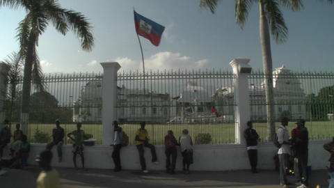 The rubble of the Presidential Palace in Haiti fol Footage