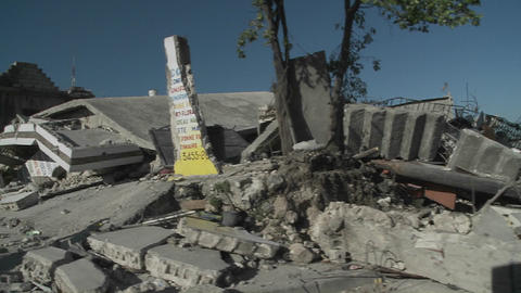 Destruction following the massive earthquake in Ha Footage