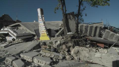 Destruction following the massive earthquake in Ha Footage