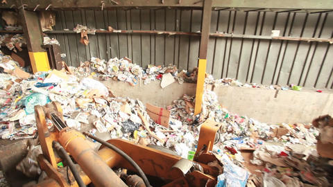 A POV shot of a recycling center Footage