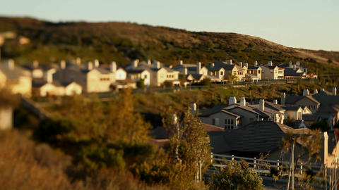 Upscale urban neighborhood Stock Video Footage