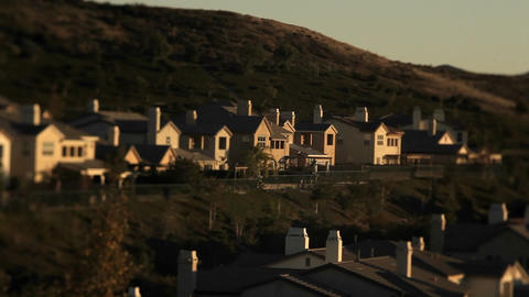 Shots of upscale urban neighborhood Footage