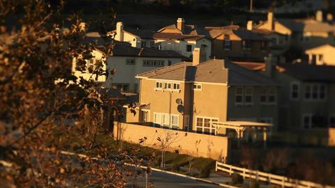 Tract homes in an upscale urban neighborhood Footage