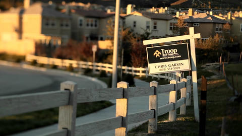 Tract homes in an upscale urban neighborhood Footage