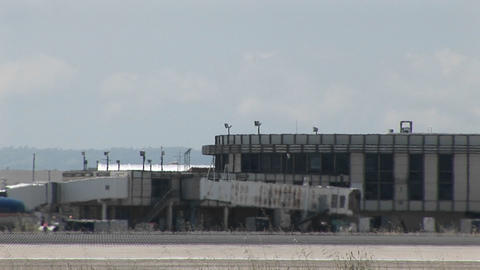A jet taxis quickly on an airport runway Stock Video Footage