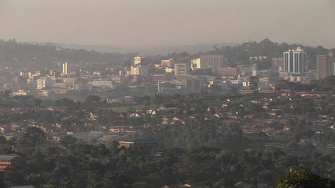 Mist covers the city of Kampala, Uganda Footage