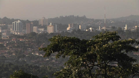 Mist covers the city of Kampala, Uganda Stock Video Footage