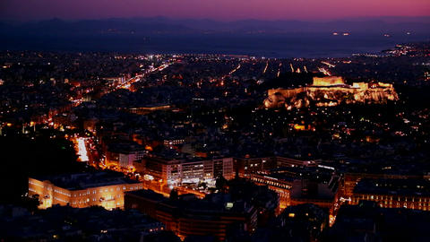 Beautiful establishing shot of Athens, Greece and  Footage