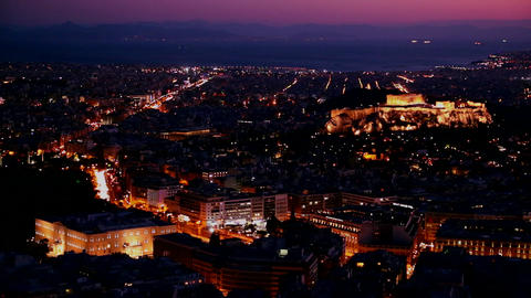 Beautiful establishing shot of Athens, Greece and Stock Video Footage