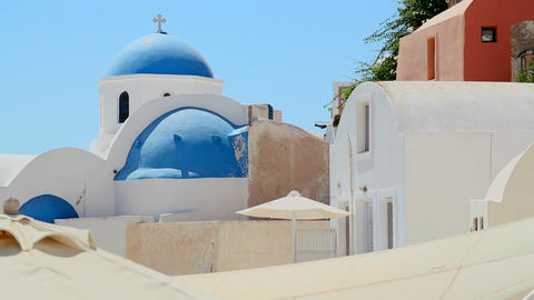 A Greek Orthodox church on the Greek island of San Footage