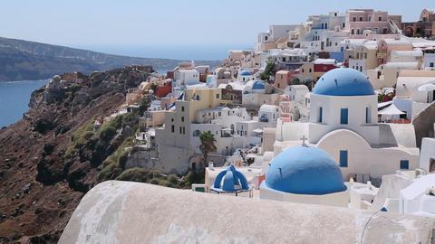A Greek Orthodox church on the Greek island of San Stock Video Footage