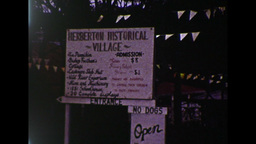 Herberton Historical Village Sign (1983 8mm Film Footage) Stock Video Footage