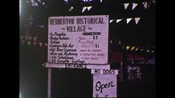 Herberton Historical Village Sign (1983 8mm Film Footage) Stock Video Footage
