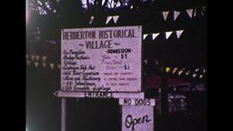 Herberton Historical Village Sign (1983 8mm Film Footage) stock footage