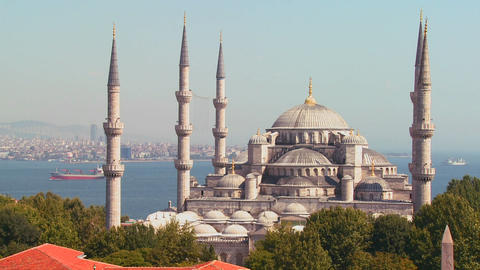 The Blue Mosque in Istanbul, Turkey Stock Video Footage