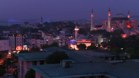 The Hagia Sophia Mosque in istanbul Turkey and the Stock Video Footage