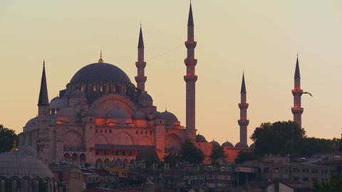 A beautiful mosque in Istanbul, Turkey Stock Video Footage
