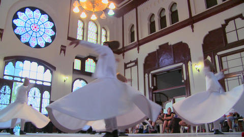 Whirling dervishes perform a mystical dance in Ist Footage