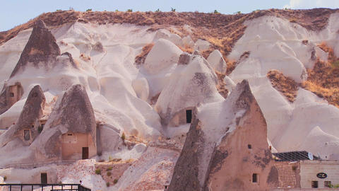 Strange dwellings and rock formations at Cappadoci Stock Video Footage
