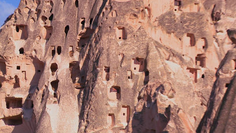 The strange towering dwellings and rock formations Footage
