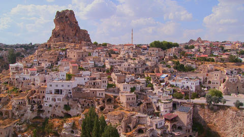 A village in Central Turkey in the region of Cappa Footage