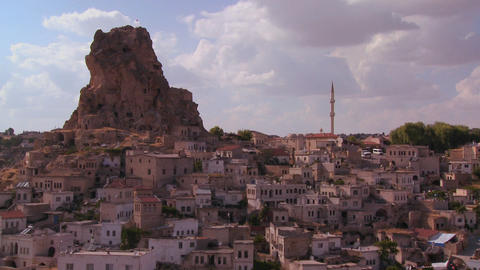 Time lapse of a village in Central Turkey in the r Stock Video Footage