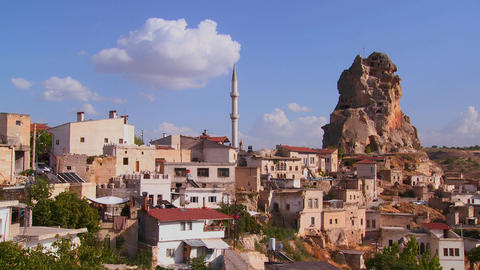 An attractive village in Central Turkey in the reg Footage