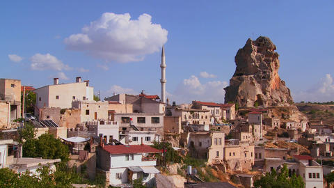 An attractive village in Central Turkey in the reg Stock Video Footage