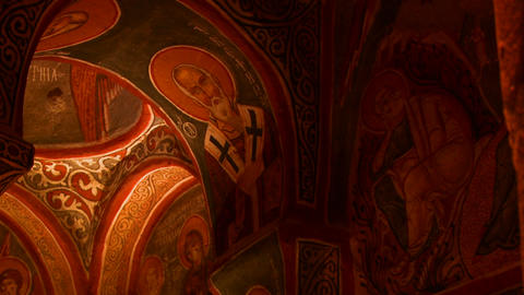 Low angle view of Christian painted ceilings in a  Footage