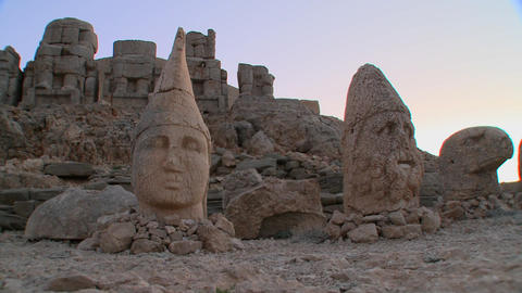 The great archeological ruins on the summit of Mt. Stock Video Footage