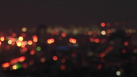 Haifa, Israel is illuminated by city lights Stock Video Footage