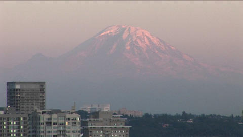 The Seattle, Washington Space Needle at day Stock Video Footage