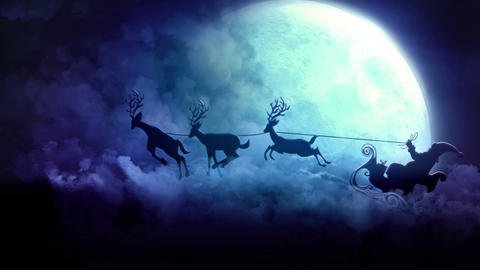 Santa In Sky Animation