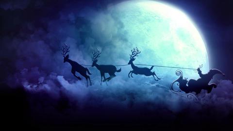 Santa In Sky Animation