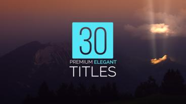 30 Titles Package After Effects Template