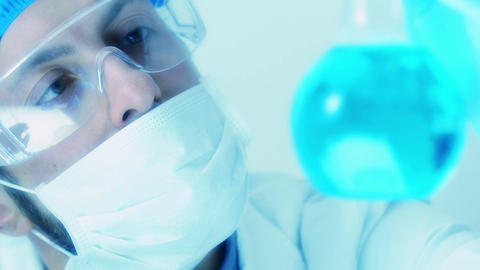 scientific research in a chemical or biological laboratory Footage