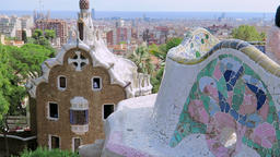 Barcelona, Spain Park Guell Casa del Guarda - Porters Lodge Footage