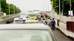 City centre rush hour traffic central Chennai, India Footage