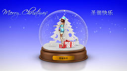 NR578 Jingle Bells Ballet CG動画素材