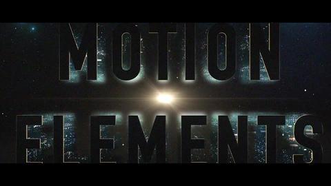 AE ELEMENT 3DV2 オープニングタイトル01 After Effectsテンプレート