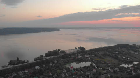 After Sunset Nature Aerial Live Action
