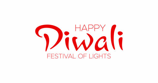 Happy Diwali Festival of Lights handwritten greeting calligraphic text message Animation