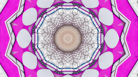 Hypnotic caleidoscope abstract pattern motion background - pink pattern Live Action